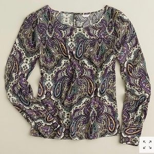 *J CREW* Talitha Blouse in Royal Paisley - Sz 4, used for sale